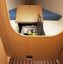 Ample storage space is available